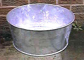 galvanised container tapered sides