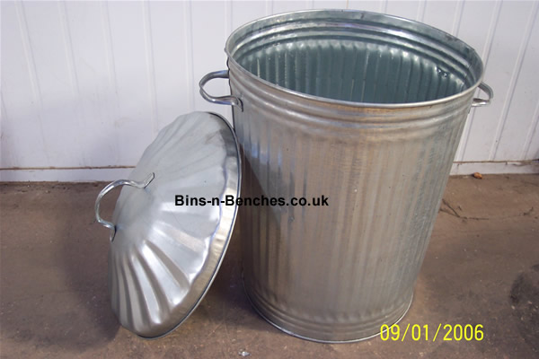 galvanised dustbin