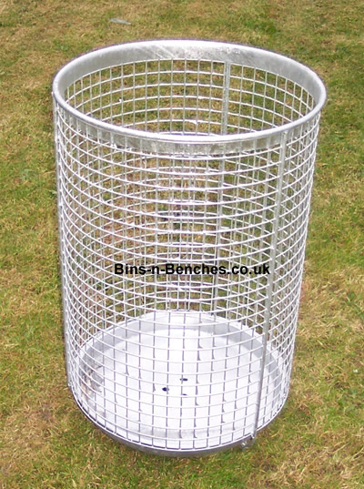 old design wire mesh litter bin